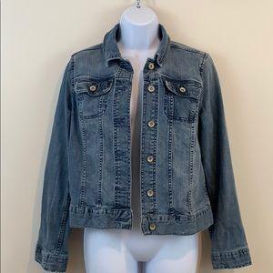 Merona Distressed Jean Jacket  Size S